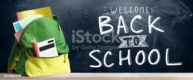 istock Back to school backpack. 1002689438