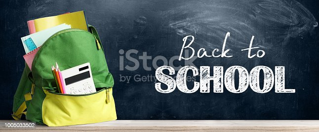 istock Back to school backpack. 1005033502