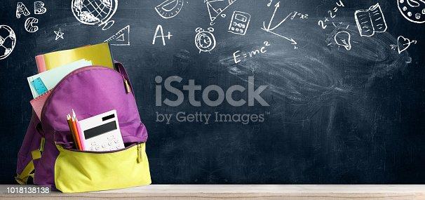 istock Back to school backpack. 1018138138