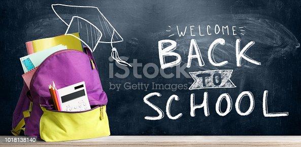 istock Back to school backpack. 1018138140