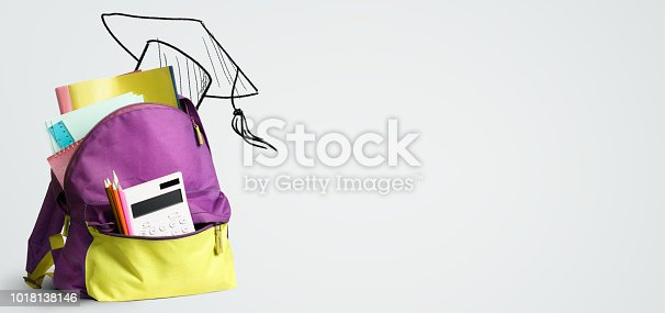 istock Back to school backpack. 1018138146