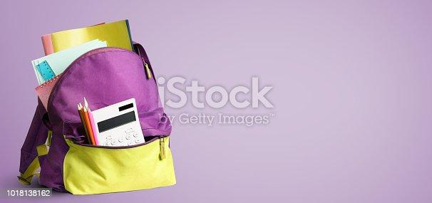 istock Back to school backpack. 1018138162