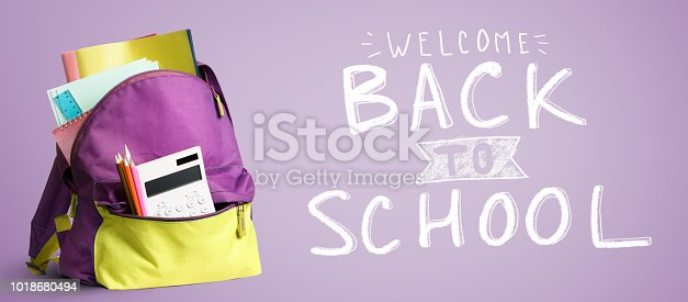 istock Back to school backpack. 1018680494