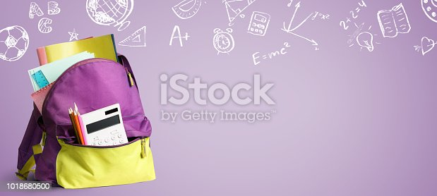 istock Back to school backpack. 1018680500