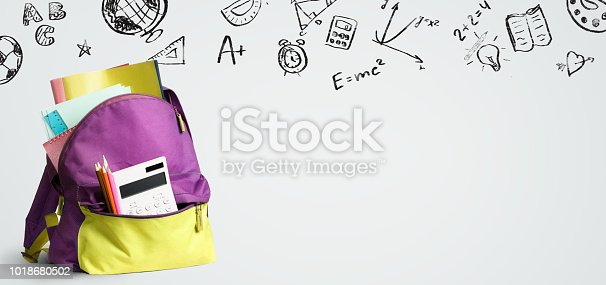 istock Back to school backpack. 1018680502
