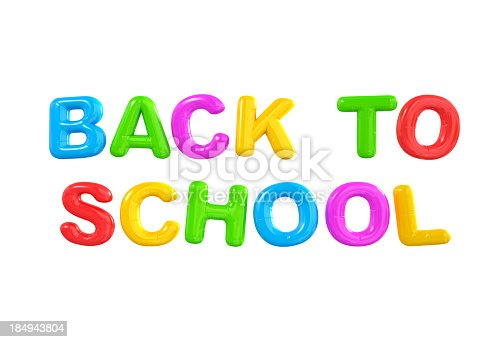 istock Back to school balloon letters. 184943804