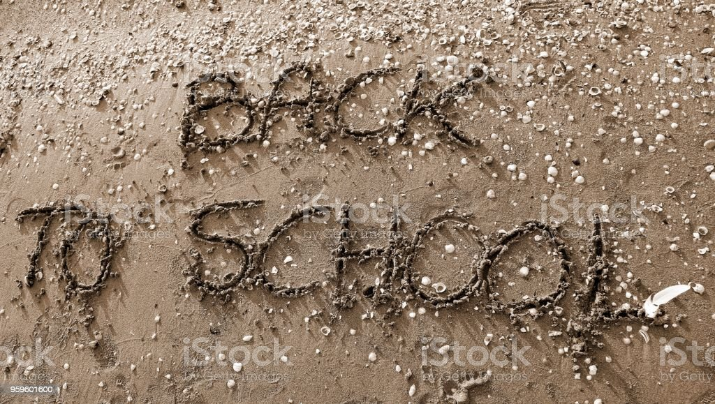 Back to School big text  with sepia toned effect stock photo