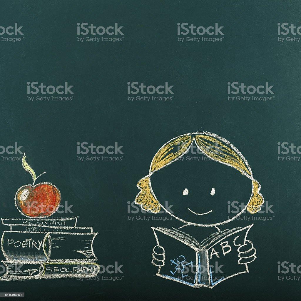 Back To School Blackboard royalty-free stock photo