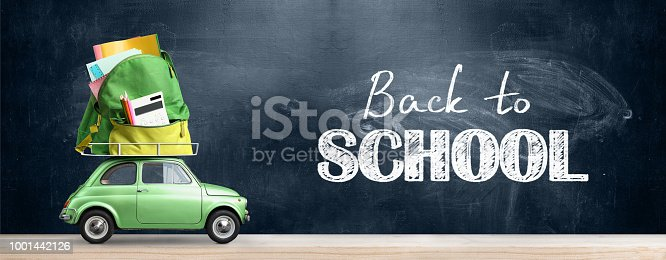 istock Back to school car. 1001442126