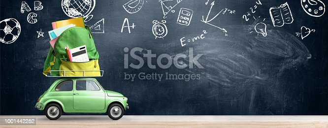 istock Back to school car. 1001442252