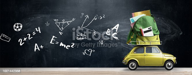 istock Back to school car. 1001442358