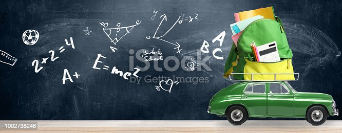 istock Back to school car. 1002738246