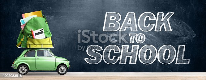 istock Back to school car. 1005033518