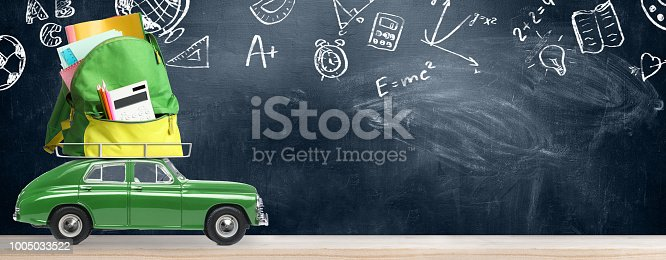 istock Back to school car. 1005033522