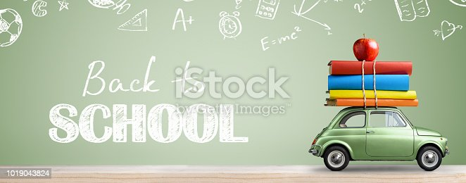 istock Back to school car. 1019043824