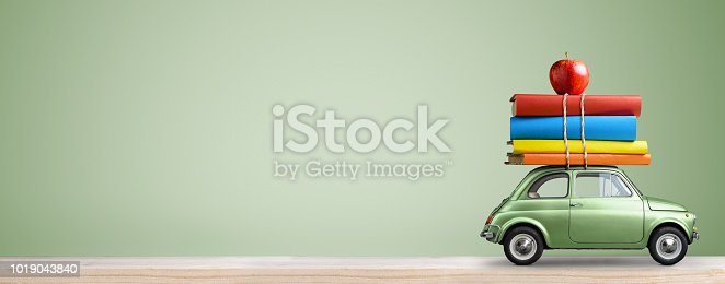 istock Back to school car. 1019043840