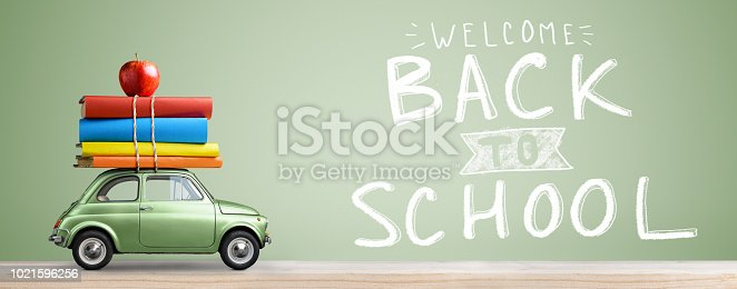 istock Back to school car. 1021596256