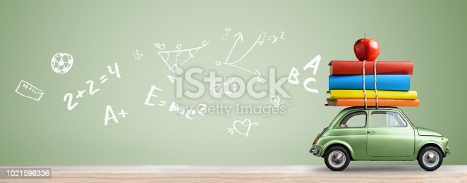 istock Back to school car. 1021596336