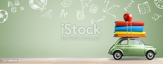 istock Back to school car. 1021596408