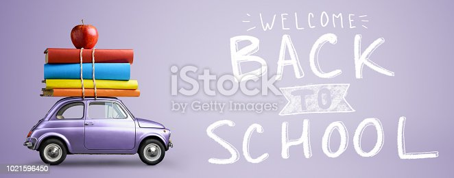 istock Back to school car. 1021596450
