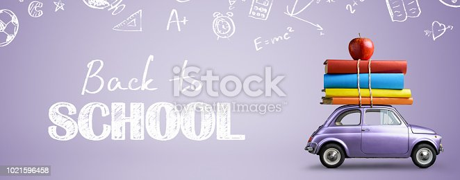 istock Back to school car. 1021596458