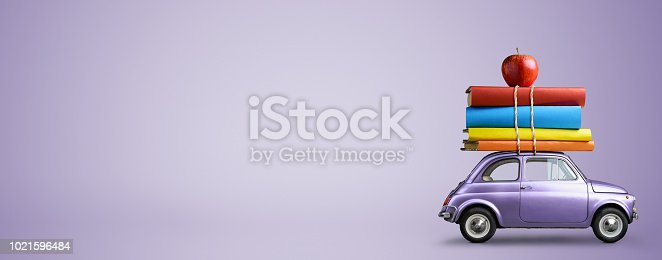 istock Back to school car. 1021596484
