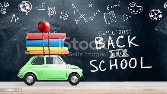istock Back to school car 1153604209