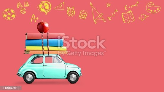 istock Back to school car 1153604211