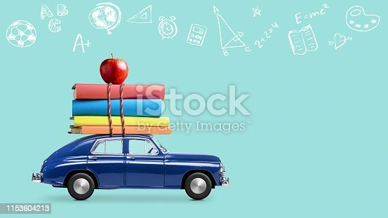 istock Back to school car 1153604213