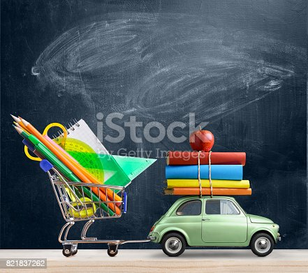 istock Back to school car. 821837262