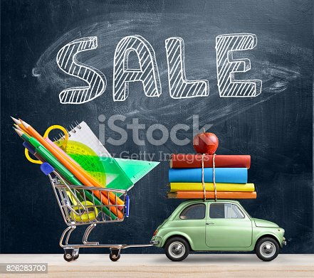 istock Back to school car. 826283700