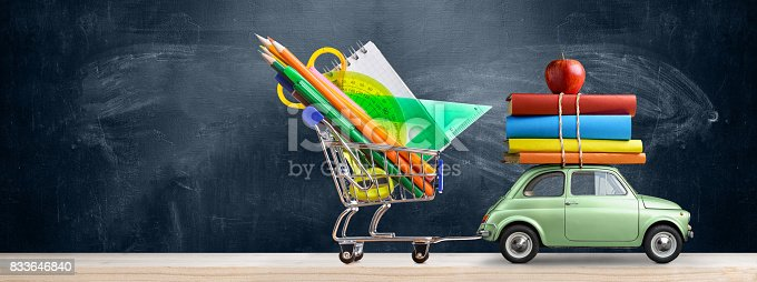 istock Back to school car. 833646840