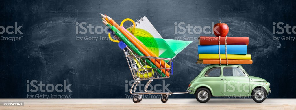 Back to school car. stock photo