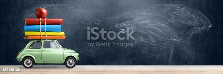 istock Back to school car. 837165108