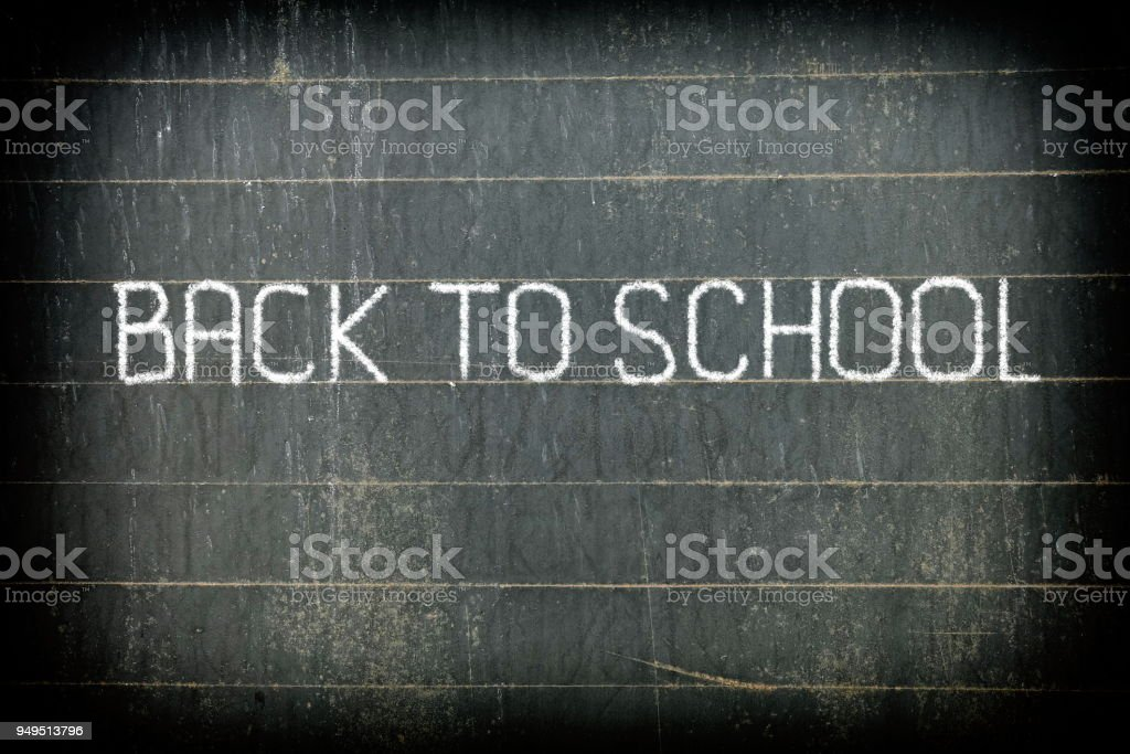 Back To School Chalk Writing On Old Chalkboard Background Royalty Free Stock Photo