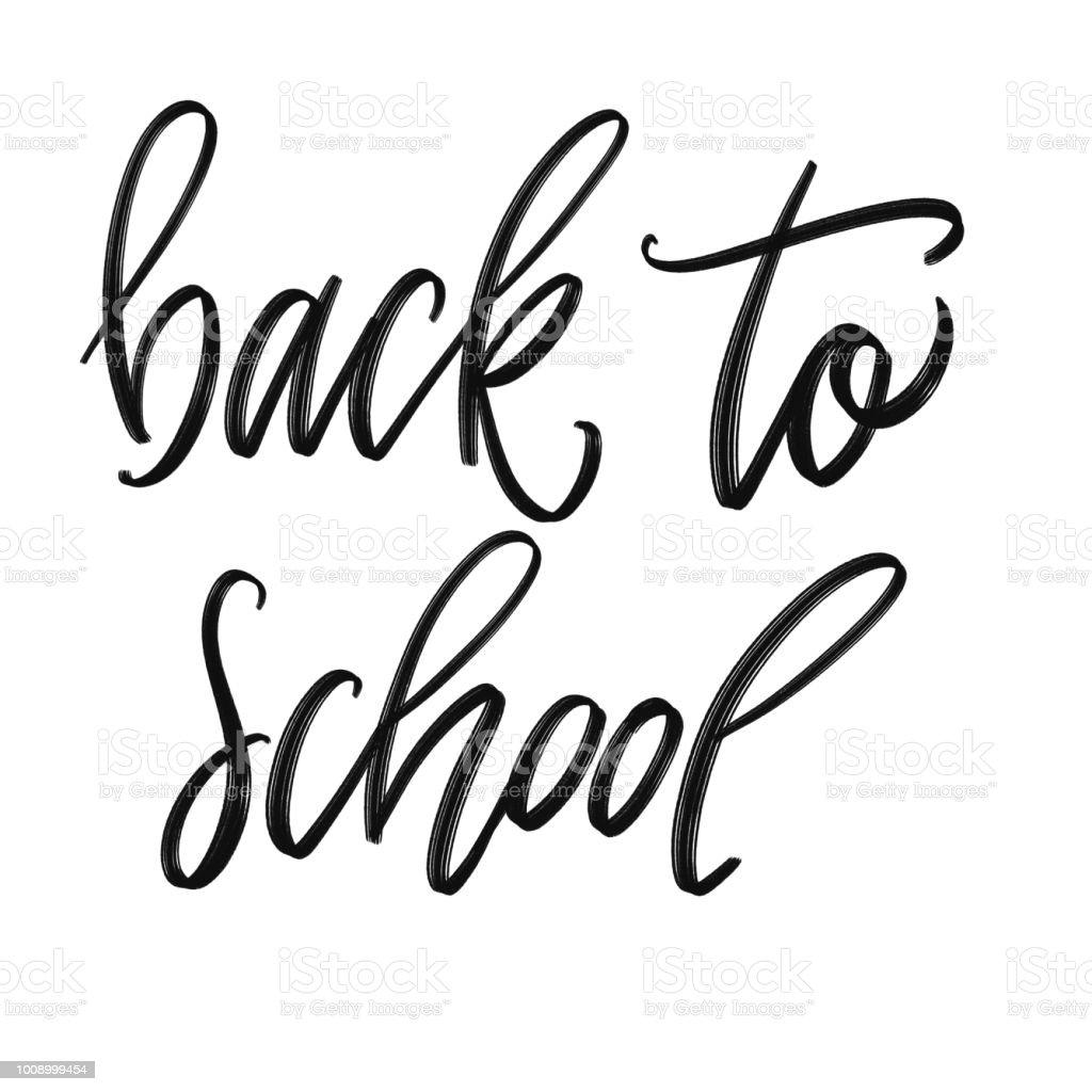 Zurück zur Schule challigraphy – Foto