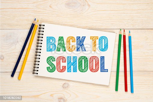 istock back to school - colorful hatching text in notebook 1018282252