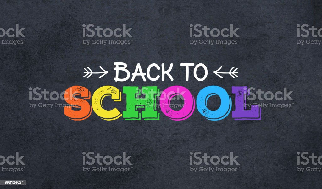 Back to School Colorful Text stock photo
