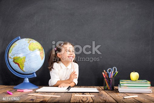 istock Back To School Concept, Happy Smiling Child Studying 827112832