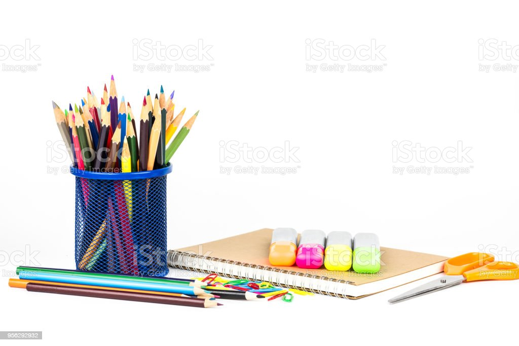 back to school concept isolated on white background royalty-free stock photo