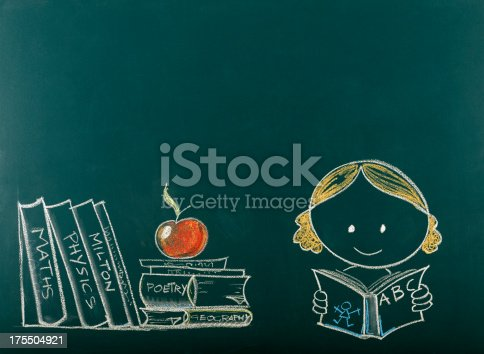 istock Back to School Concept on Blackboard.Copy Space. 175504921