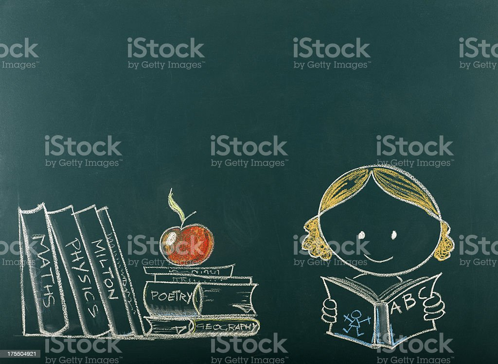 Back to School Concept on Blackboard.Copy Space. stock photo