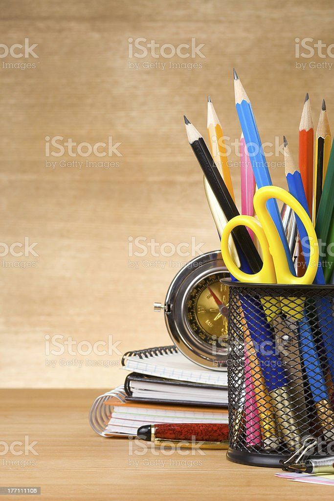 back to school concept on wood royalty-free stock photo