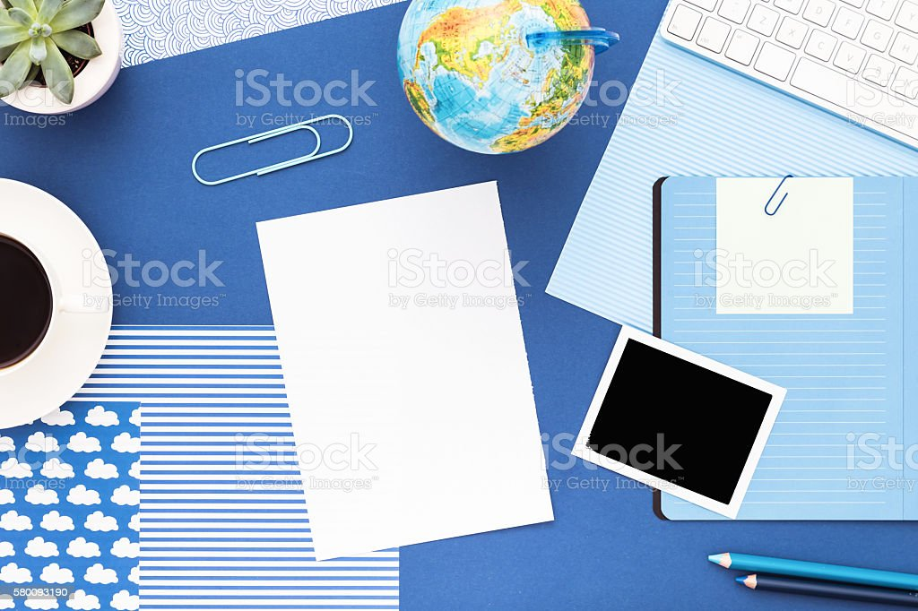 Back to school concept with copy space. stock photo