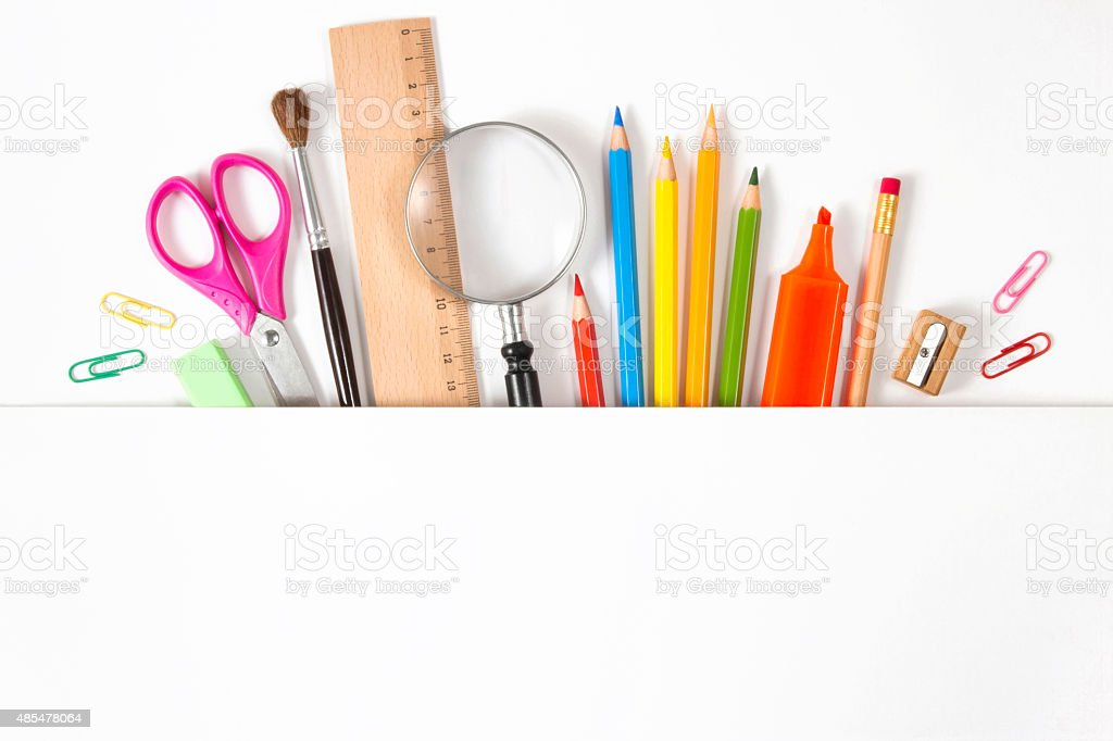 Back to School Concept with School Items stock photo