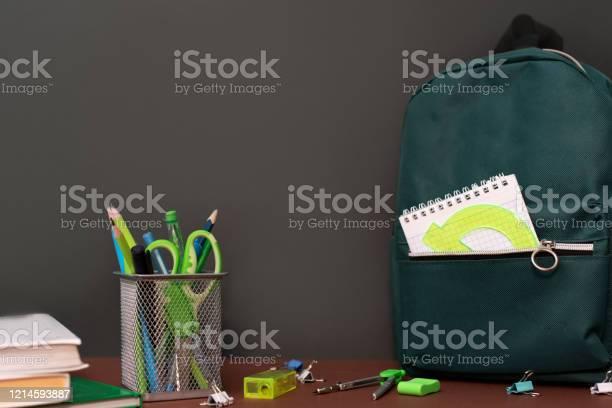 Back to school concept with stationery supplies and blackboard picture id1214593887?b=1&k=6&m=1214593887&s=612x612&h=ttqizsqzubj8dwnu0zzmjzz2lxmshn06hzycqujdghs=