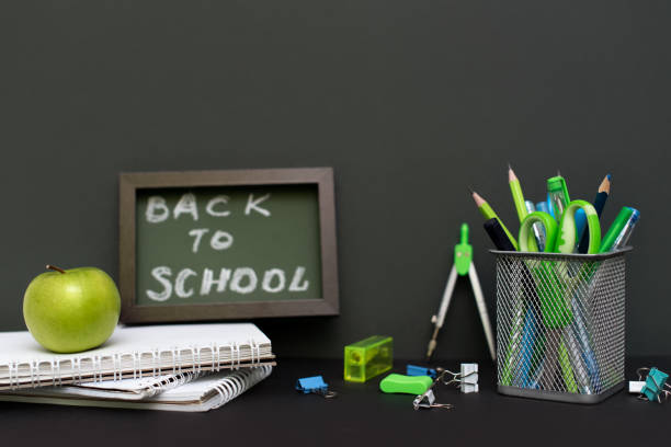 Back to school concept with stationery supplies and blackboard picture id1218866664?b=1&k=6&m=1218866664&s=612x612&w=0&h=c2jkbhjgpuid528qux82ngpnfhdt8aaozt14clltl5c=