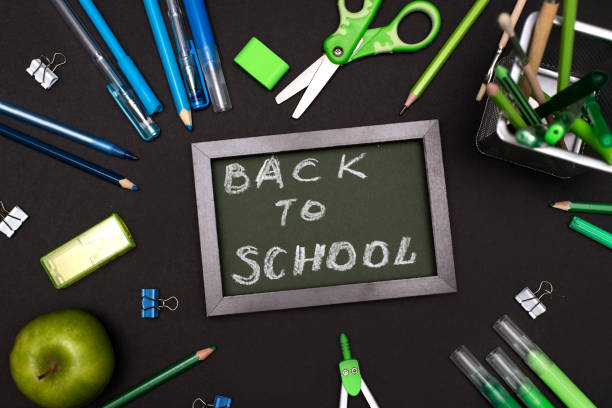 Back to school concept with stationery supplies and blackboard picture id1218866667?b=1&k=6&m=1218866667&s=612x612&w=0&h=4bx4kxmgxk4b6tlnk1kxuwap31m4rpqa6ybfxxuiudw=