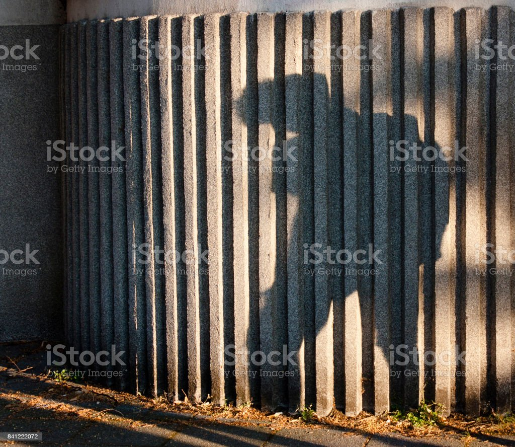 Back to school depression shadow stock photo