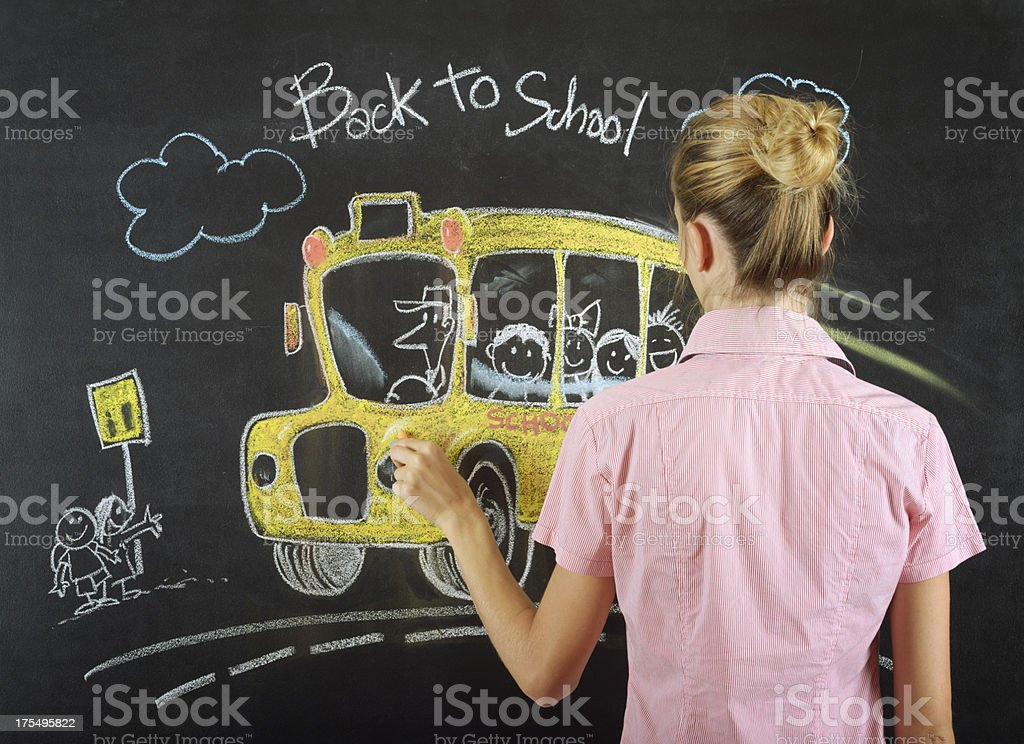 Back to School Drawing royalty-free stock photo